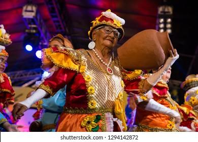 Recife, Pernambuco, Brazil, in February 2017. Culture Popular. Lyrical block. Frevo: manifestation of the popular culture of Pernambuco.