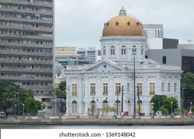 Recife, Pernambuco, Brazil - February 24, 2019 - Palace of the Legislative Assembly of the State of Pernambuco (Palácio Joaquim Nabuco).