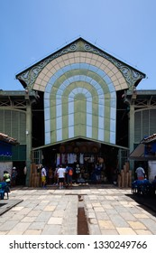RECIFE, PERNAMBUCO, BRAZIL - JAN 29, 2019: Mercado de São Jose is a public market in Recife. Founded in 1871, it is the oldest Brazilian building constructed of pre-manufactured iron.