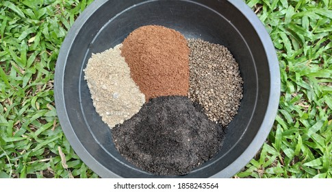 Recipe for cactus soil mix.Soil for plants.Growing plants with soil