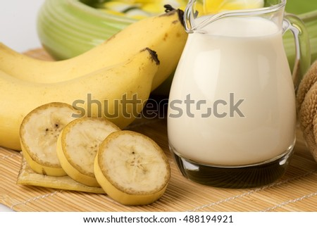 Recipe Face Mask Bananas Fresh Milk Stock Photo Edit Now 488194921