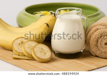 Recipe Face Mask Bananas Fresh Milk Stock Photo Edit Now 488194924