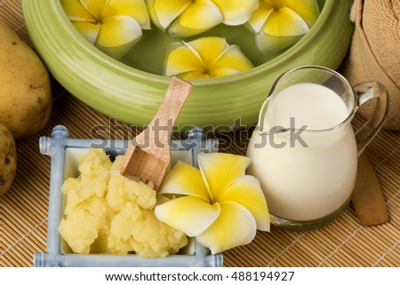 Recipe Face Mask Bananas Fresh Milk Stock Photo Edit Now 488194927