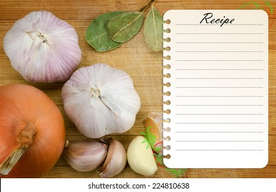 recipe card template on wooden cutting stock photo edit now
