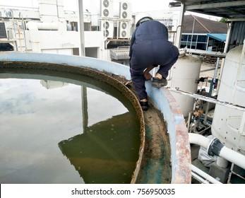 Recirculation Solid contact Clarifier Sedimentation Tank Effluent view