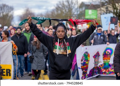 Reclaim MLK Freedom and Unity March in Portland OR, USA, on January 15th, 2018.