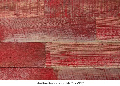 Reclaimed red wood background texture