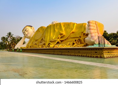 Reclining Buddha in the old city of Bago, Myanmar
