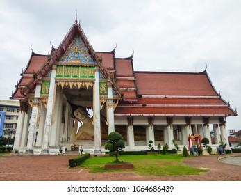 Reclining Buddha statue at Wat Hat Yai Nai (Buddhist Temple) - Hat Yai, Thailand