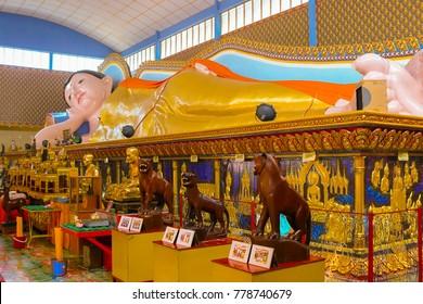 Reclining Buddha Temple Wat Chayamangkalaram Pulau Tikus Penang Malaysia