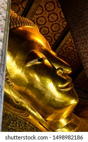Reclining Buddha at Wat Pho Temple in Bangkok, Thailand