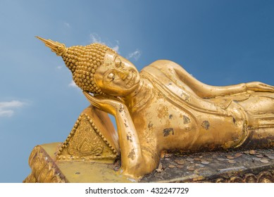 Reclining Golden Buddha ,Chiang Mai Thailand(have clipping path)