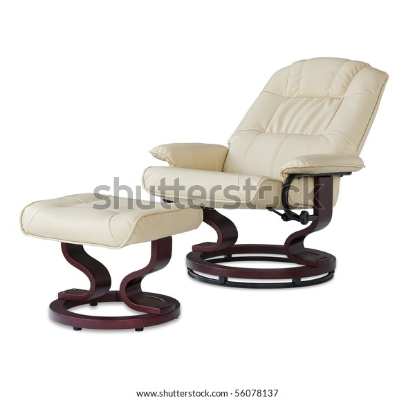 Peachy Reclining Leather Massage Chair Foot Rest Stock Photo Edit Ibusinesslaw Wood Chair Design Ideas Ibusinesslaworg