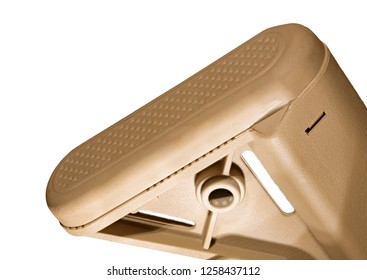 Recoil pad for an AR-15 that is isolated on a white background
