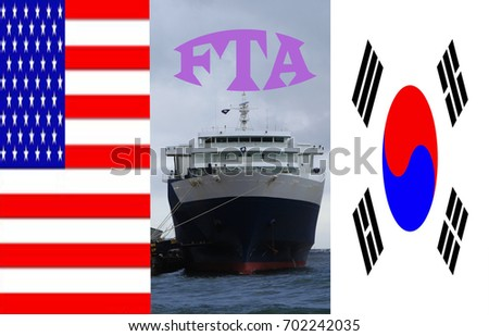 Reconstitute Free Trade Agreement Between United Stock Photo Edit