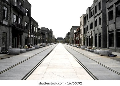 reconstruct oldest Qianmen commercial street in Beijing, China