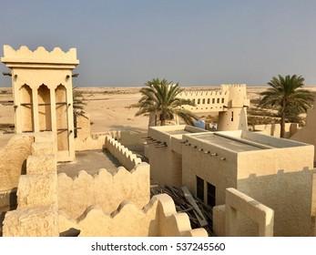 Reconstructed deserted Arab village, Zekreet, Doha, Qatar