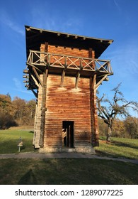 Reconstructed Roman watchtower in the town of Lorch in Germany. The Limes Germanicus (Latin for Germanic frontier) was a line of fortifications that bounded the ancient Roman Empire.