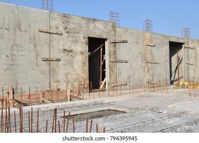 Reconstruction area concrete building