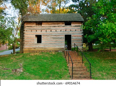 reconstruction of the capitol building for the historic state of Franklin, which existed in eastern Tennessee from 1784â??1788