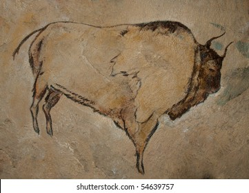 A reconstruction of a cave painting