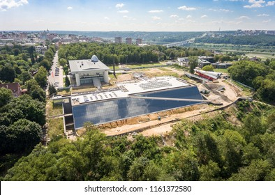 Reconstruction of the Museum of Cosmonautics History. 2018. Kaluga, Russia. Aerial photography