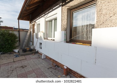 Reconstruction of the old house (insulation facade polystyrene).