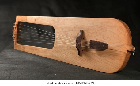 Reconstruction of the Saxon lyre from Trossingen 580 BC String musical instrument