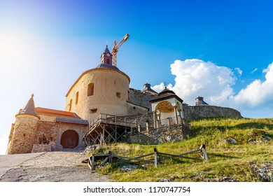 Reconstruction work on the castle Krasna Horka, Slovakia