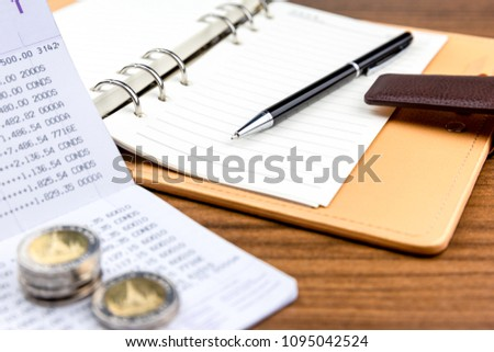 record expenses saving moneysave business family stock photo edit