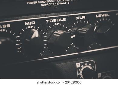 Recording Audio Equipment in recording studio