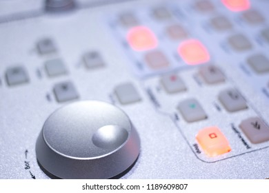 Recording audio studio mixing desk to record and mix music, instruments and voiceover voice recordings.