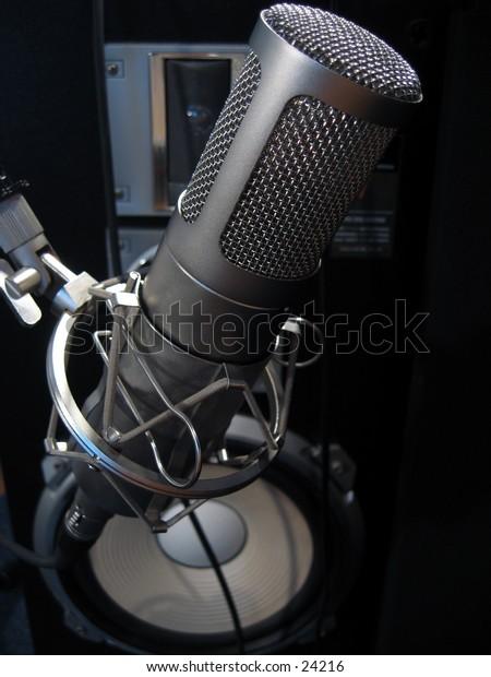 Recording condenser microphone