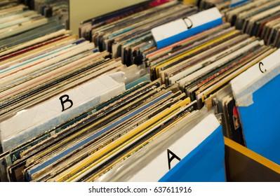 Records at the classic vinyl shop