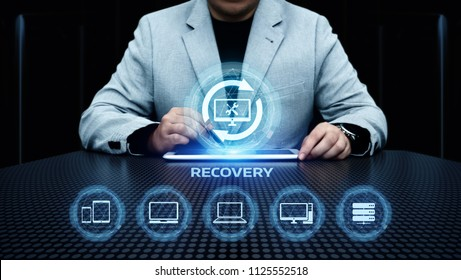 Recovery Data Backup Computer Internet Business Technology Concept.