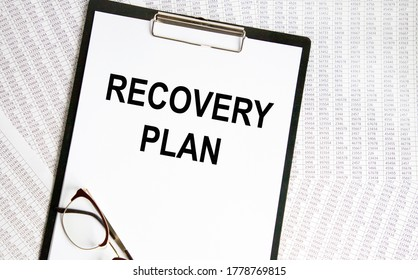 Recovery Plan word written on paper.
