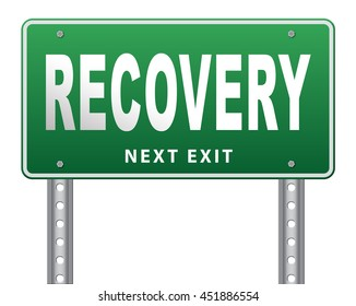 Recovery recover lost data economy recovering 3D illustration, isolated, on white