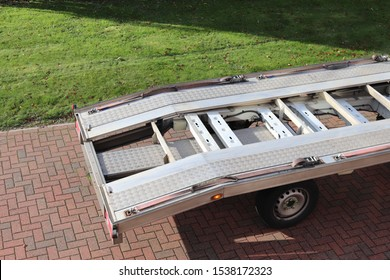 Recovery vehicle ramps for loading cars  and winch pulls for loading