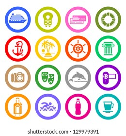 Recreation icons set. Vector copy also available