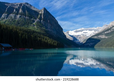 Recreation in Lake Louise in the summer months