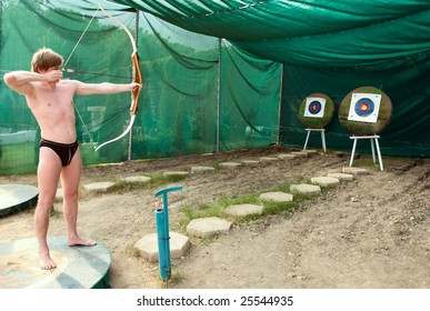 recreational archery on beach