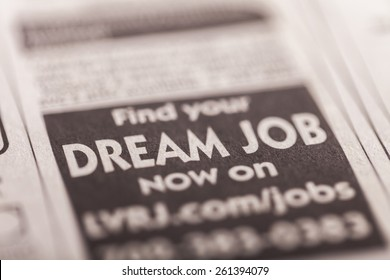 Recruitment, Classified Ad, Occupation.