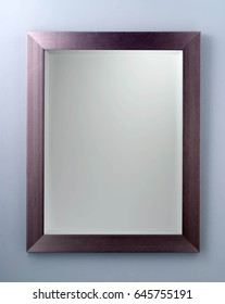 Rectangle mirror with metallic frame