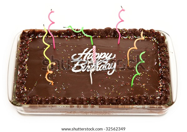 Magnificent Rectangular Birthday Cake Funny Candles Stock Photo Edit Now Funny Birthday Cards Online Hendilapandamsfinfo