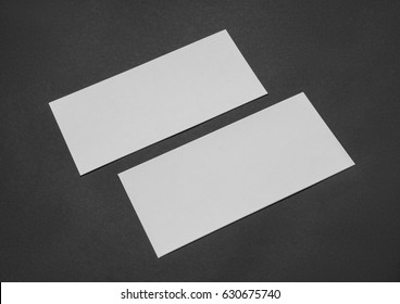 Rectangular card with a black paper
