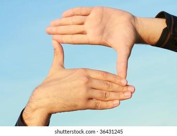rectangular frame of the human hand