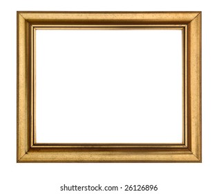 Rectangular Gold Wooden Picture Frame