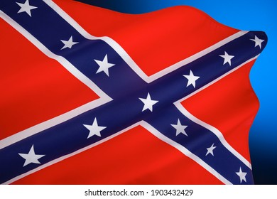 Rectangular variant of the square Confederate Army battle flag. Despite never having historically represented the C.S.A. it is commonly referred to as the Confederate Flag and symbol of the South.