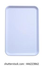 rectangular white plastic serving tray