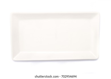 A rectangular white plate.
